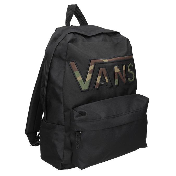 Black Backpack with Logo vans, black , 969-6078 - 13
