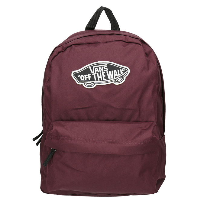 Burgundy Backpack with Patch vans, red , 969-5092 - 26