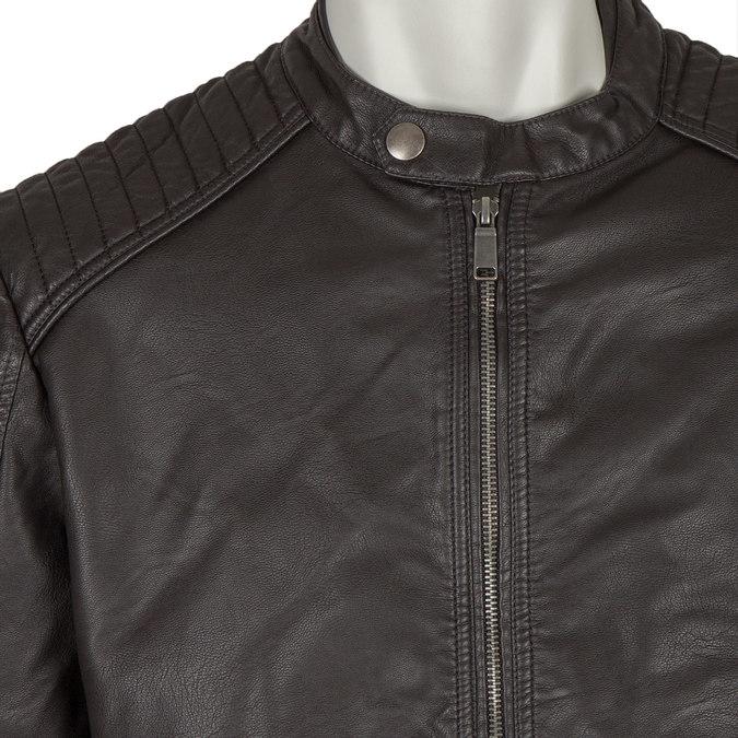 Men's Imitation Leather Jacket bata, brown , 971-4103 - 16