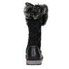 Girls' Leather High Boots with Fleece mini-b, black , 394-6193 - 16