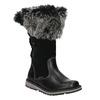 Girls' Leather High Boots with Fleece mini-b, black , 394-6193 - 13