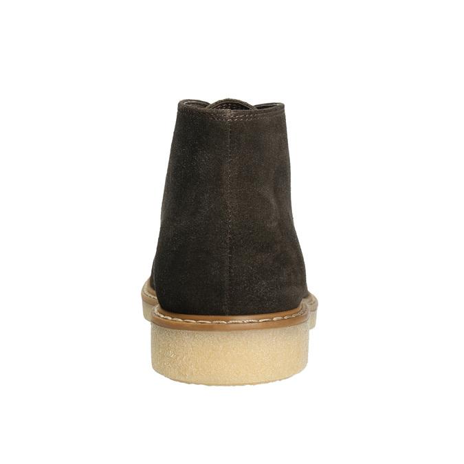 Ladies' Leather Chukka Boots bata, brown , 593-4608 - 17