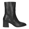 Ladies' Leather Low-Heeled High Boots vagabond, black , 716-6039 - 26