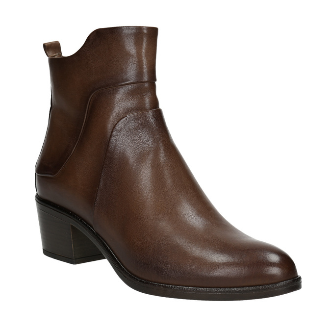 High ankle boots with stable heel bata, brown , 696-4654 - 13
