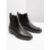 Ladies' textured  leather Chelsea boots bata, black , 596-6678 - 18