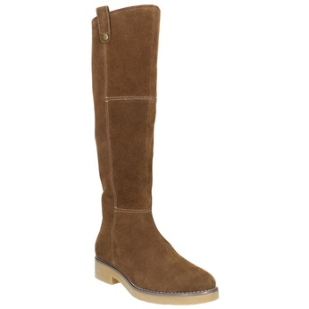 Ladies' Winter High Boots bata, brown , 593-4606 - 13