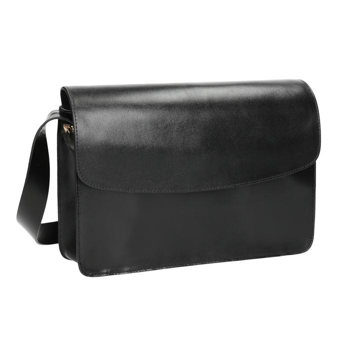 Black Leather Crossbody Bag vagabond, black , 964-6086 - 13