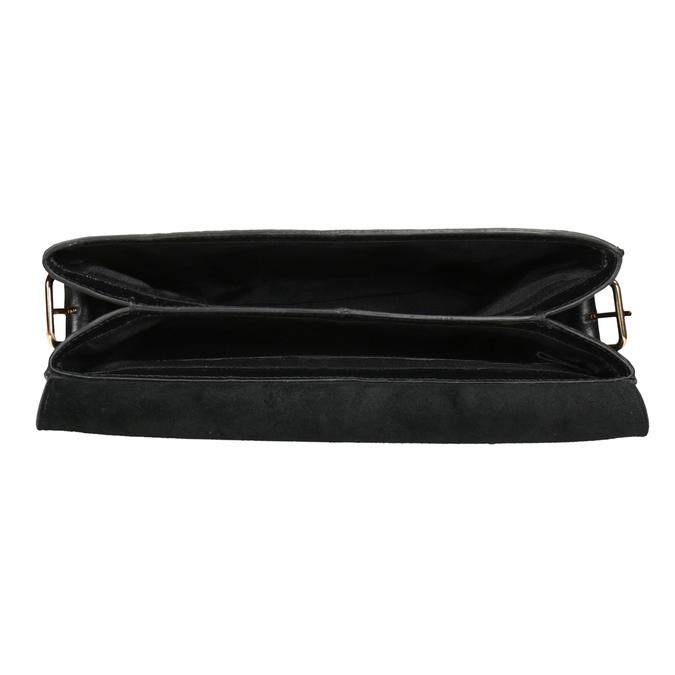 Black Leather Crossbody Bag vagabond, black , 964-6086 - 15