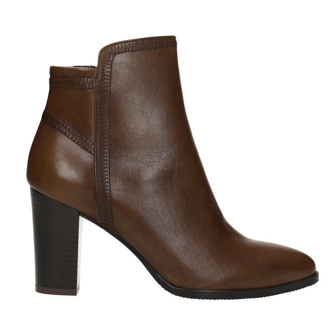 Leather Ankle Boots bata, brown , 794-4650 - 26