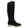 Ladies' Leather High Boots bata, black , 593-6606 - 15