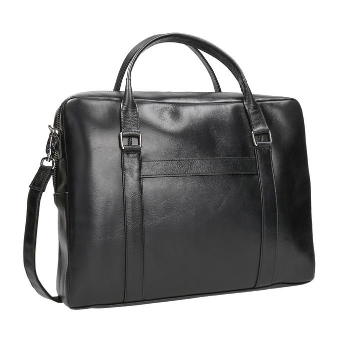 Black Leather Bag royal-republiq, black , 964-6051 - 13