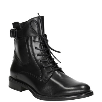 Ladies' leather ankle boots bata, black , 596-6680 - 13