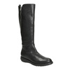 Ladies' leather high boots with zip flexible, black , 594-6651 - 13
