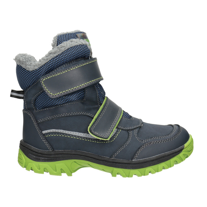 Children's winter boots with Velcro mini-b, blue , 491-9654 - 26