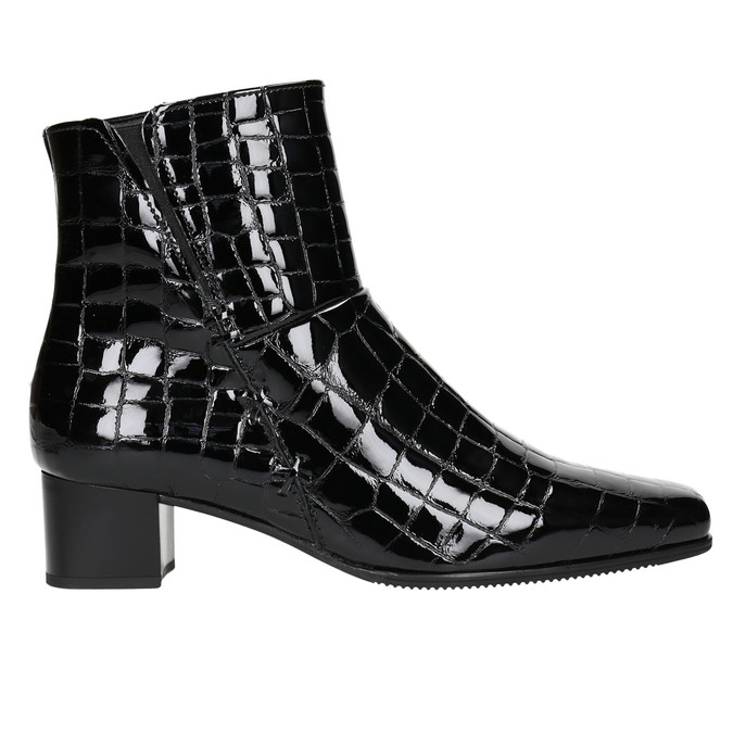 Ladies' Patent Leather High Boots gabor, black , 618-6002 - 15