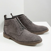 Men's leather ankle boots bata, gray , 823-2615 - 18