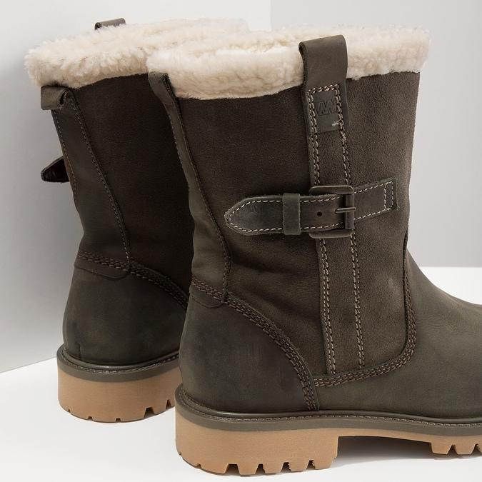 Ladies' winter boots with fur weinbrenner, gray , 594-2455 - 18