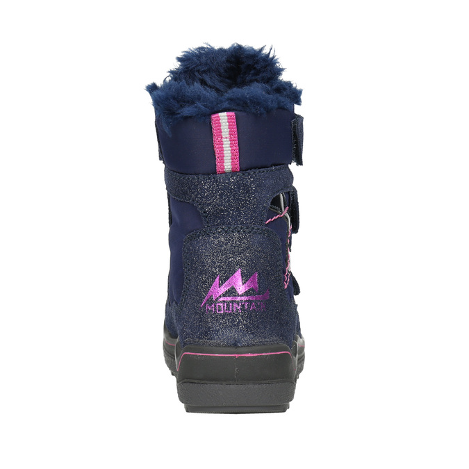 Children's Winter Boots with Hook-and-Loop Closures mini-b, blue , 299-9613 - 17