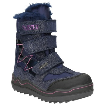 Children's Winter Boots with Hook-and-Loop Closures mini-b, blue , 299-9613 - 13