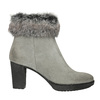 Leather High-Heeled High Boots manas, gray , 793-2610 - 26