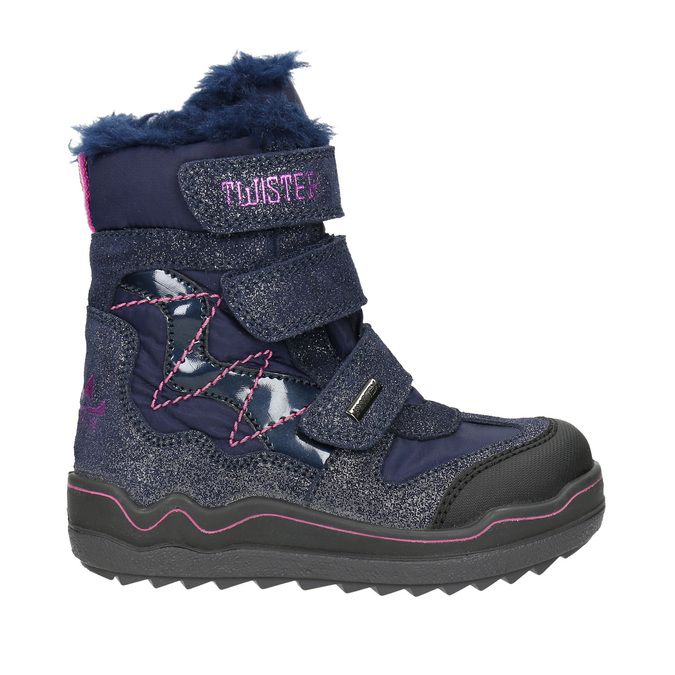 Children's Winter Boots with Hook-and-Loop Closures mini-b, blue , 299-9613 - 15