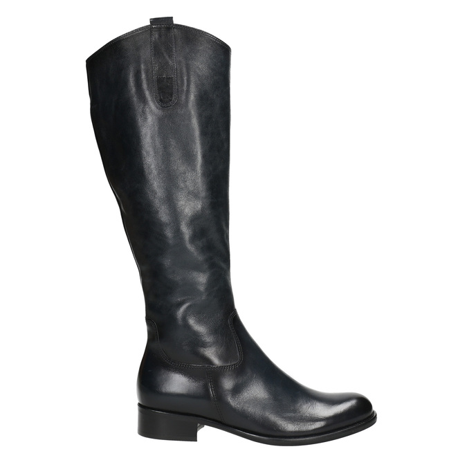 Ladies' leather high boots gabor, black , 694-6193 - 15
