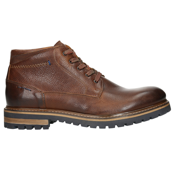 Men´s winter leather footwear bata, brown , 894-3672 - 15