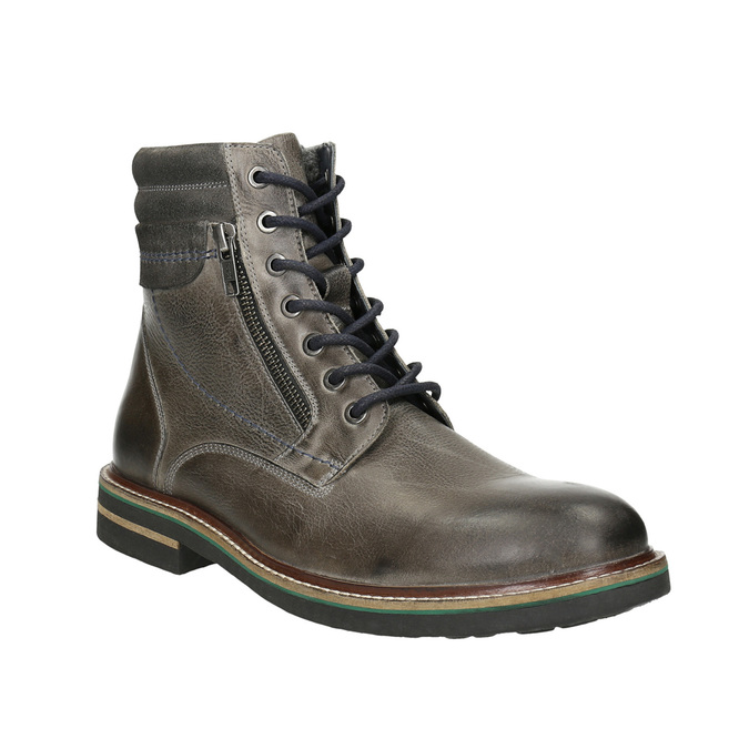 Leather Ankle Boots bata, gray , 896-2686 - 13