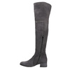 Ladies' leather high boots bata, gray , 693-2604 - 15