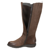 Brown leather high boots with zip flexible, brown , 594-4651 - 17