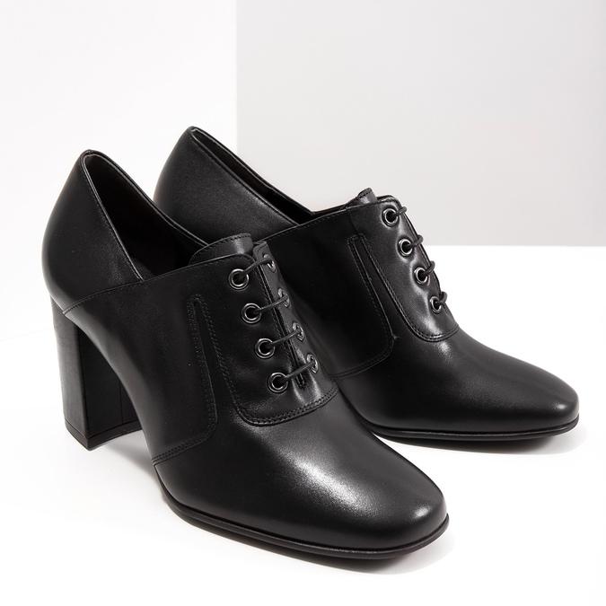 Ladies' pumps with stable heel hogl, black , 724-6055 - 18