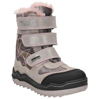 Pink Girls' Winter Boots mini-b, red , 299-5613 - 13