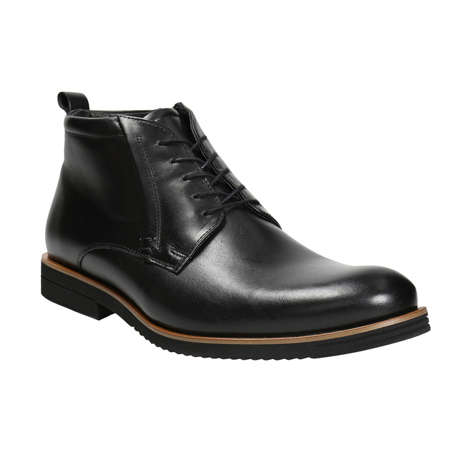 Men's leather ankle boots conhpol, black , 894-6696 - 13