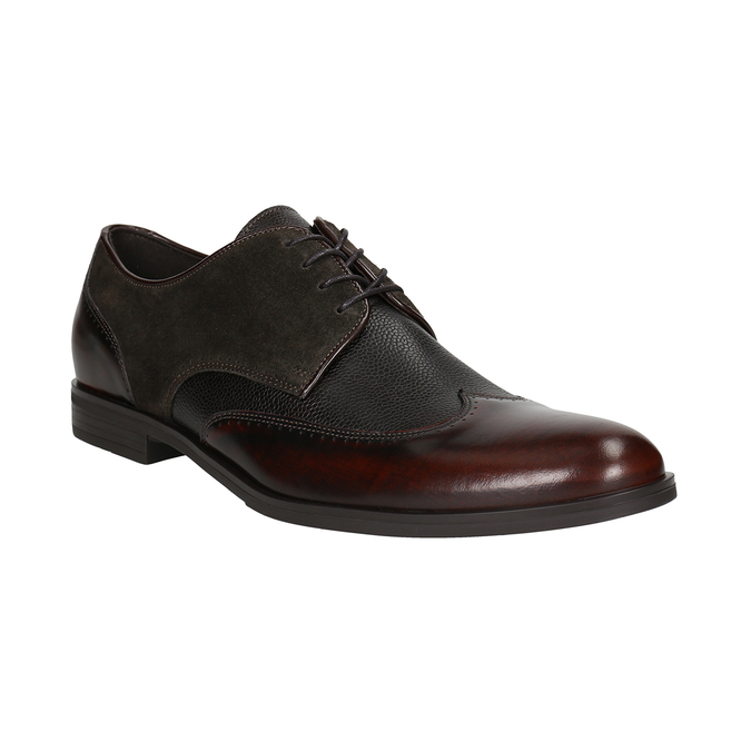 Men's leather Derby shoes conhpol, brown , 826-4922 - 13