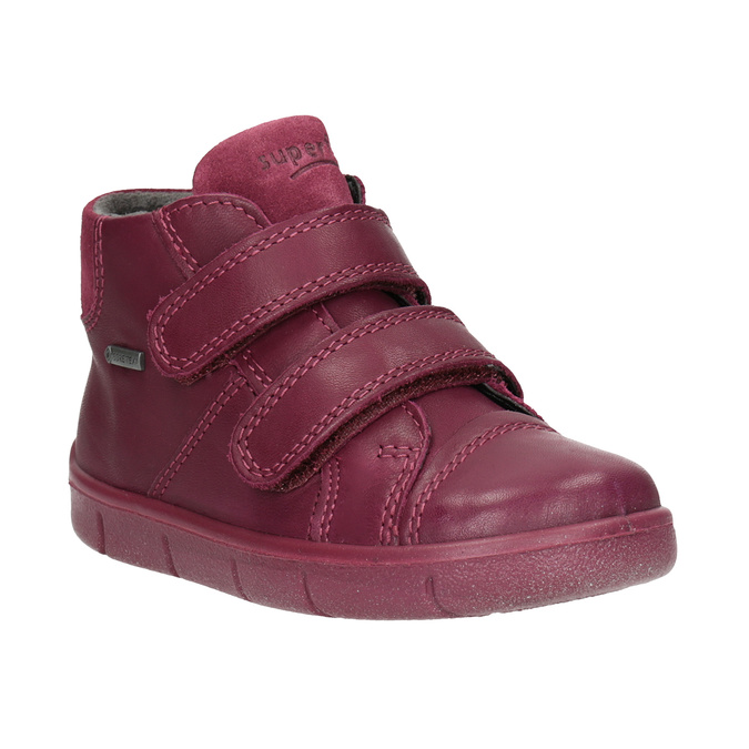Children's leather ankle boots, red , 124-5037 - 13