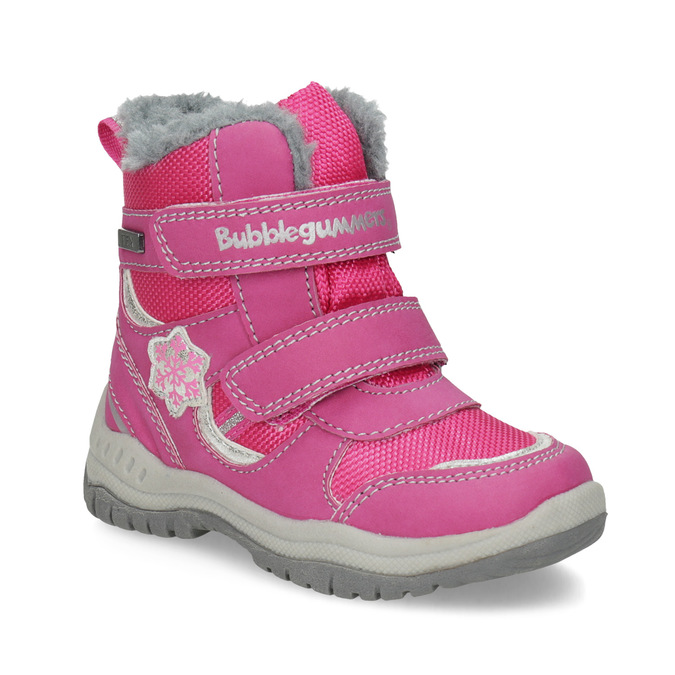 Pink Children's Snow Boots bubblegummer, pink , 199-5602 - 13