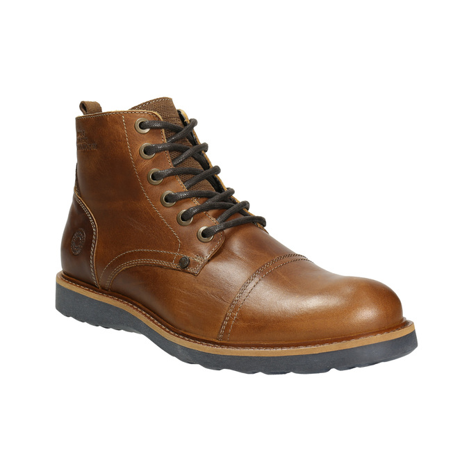 Brown Leather Winter Boots bata, brown , 896-4667 - 13