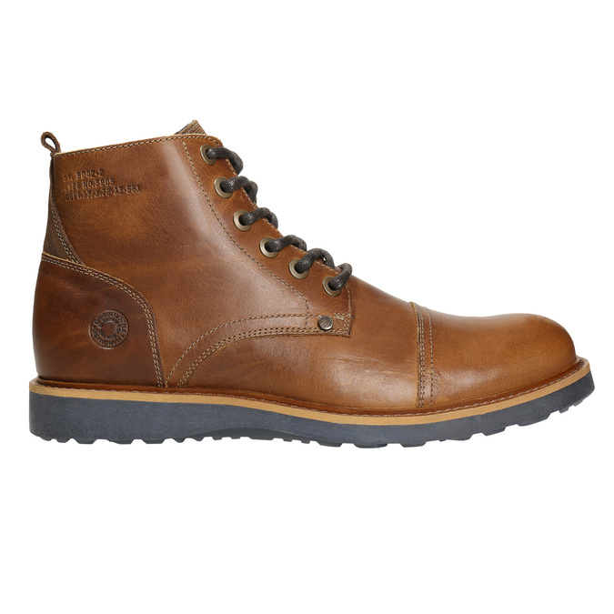 Brown Leather Winter Boots bata, brown , 896-4667 - 15