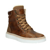 Ladies' leather winter boots bata, brown , 596-4684 - 13