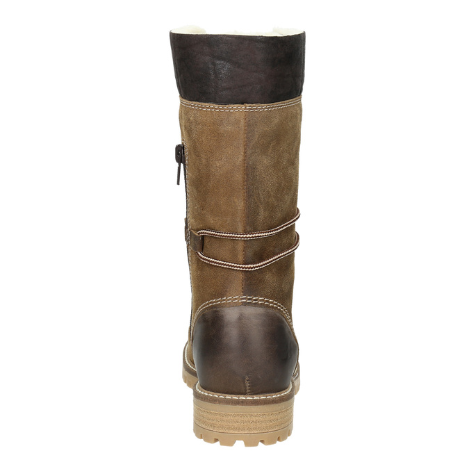 Ladies' winter boots with fur weinbrenner, brown , 593-8476 - 16