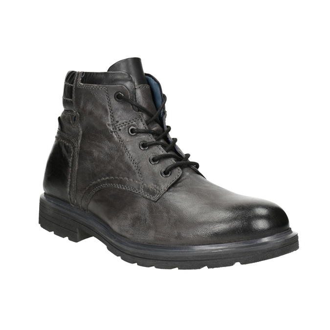 Men's Leather Ankle Boots bata, gray , 896-2682 - 13