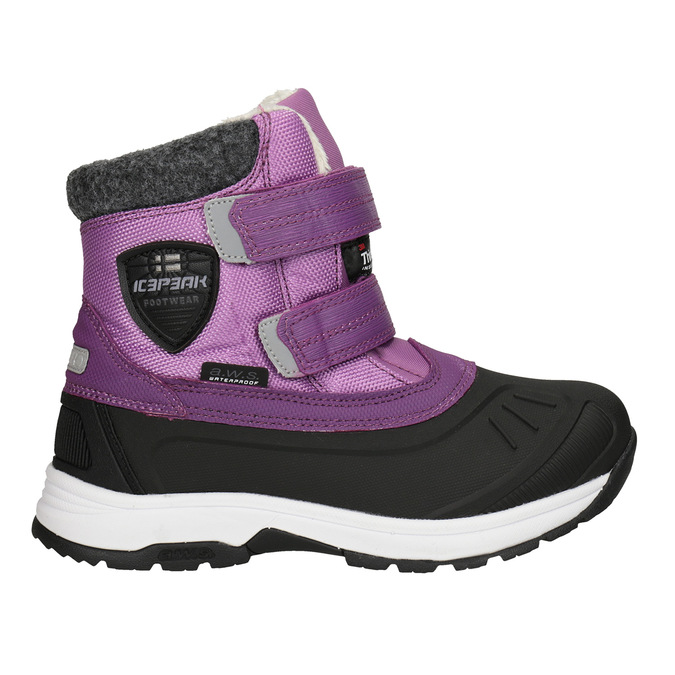 Girls' purple snow boots, violet , 399-5018 - 26