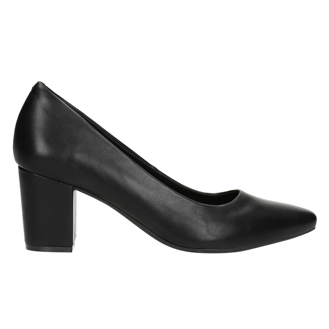 Ladies' black pumps rockport, black , 724-6048 - 26