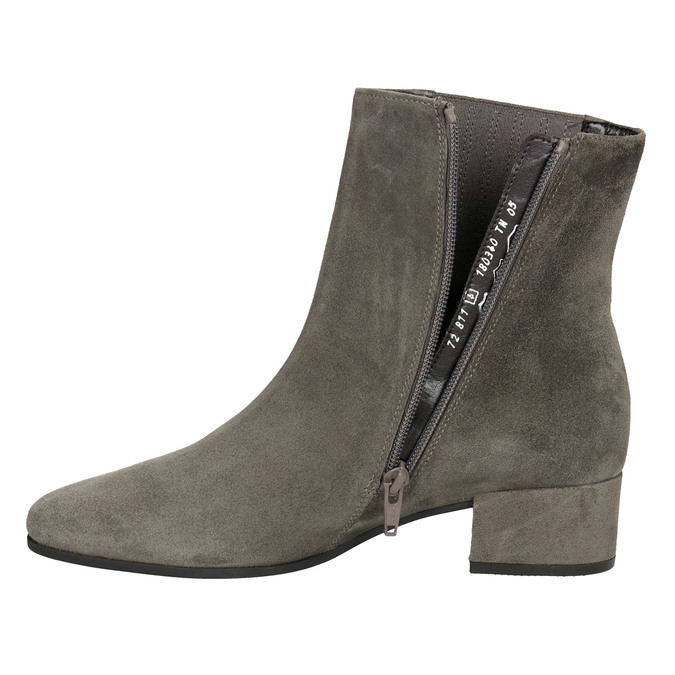 Brushed leather high ankle boots gabor, gray , 613-2022 - 15