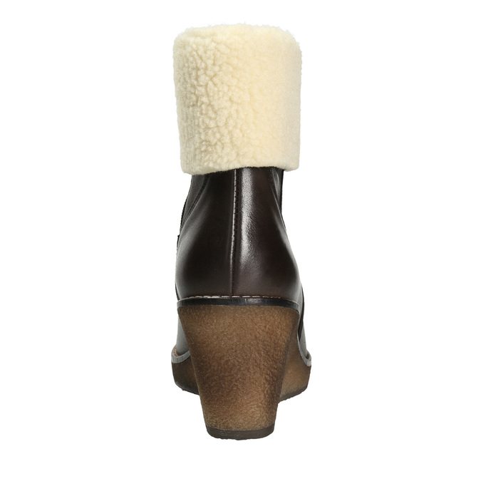 Leather Insulated High Boots manas, brown , 796-4649 - 16