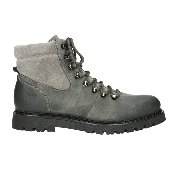 Ladies' Leather Ankle Boots weinbrenner, gray , 596-2672 - 26