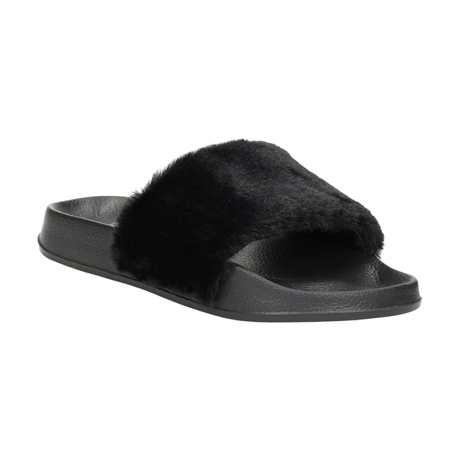 Ladies' black slippers north-star, black , 579-6624 - 13