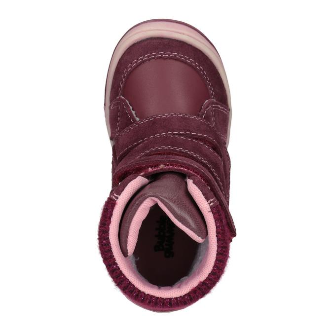 Children's leather winter boots bubblegummer, red , 124-5602 - 15