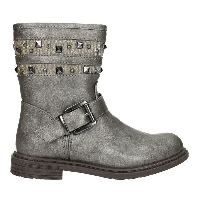 Girls' High Boots with Studs mini-b, brown , 291-3398 - 26