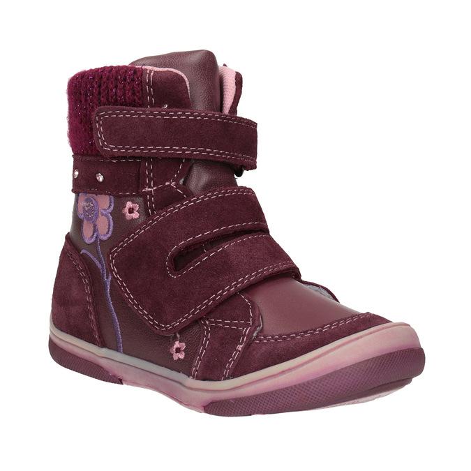 Children's leather winter boots bubblegummer, red , 124-5602 - 13